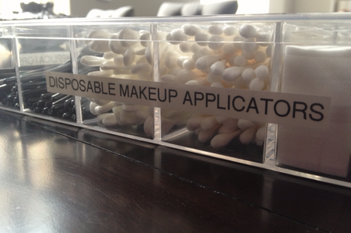 Makeup Applicator Organization