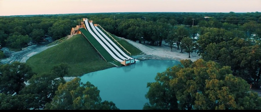 Royal Flush Water Slide at BSR Cable Park in Waco, TX